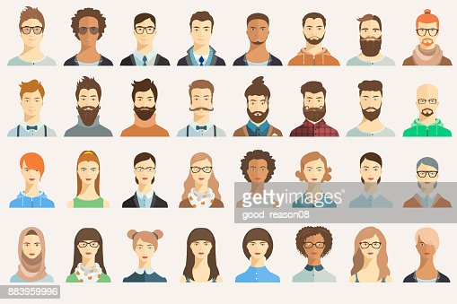 Set of avatar icons. : stock vector