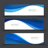 Set of banner templates.  Modern abstract Vector Illustration design.
