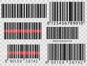 Set of barcodes isolated on white background. Vector illustration. EPS10