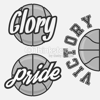 Set Of Basketball Team Logos Vector Art Thinkstock