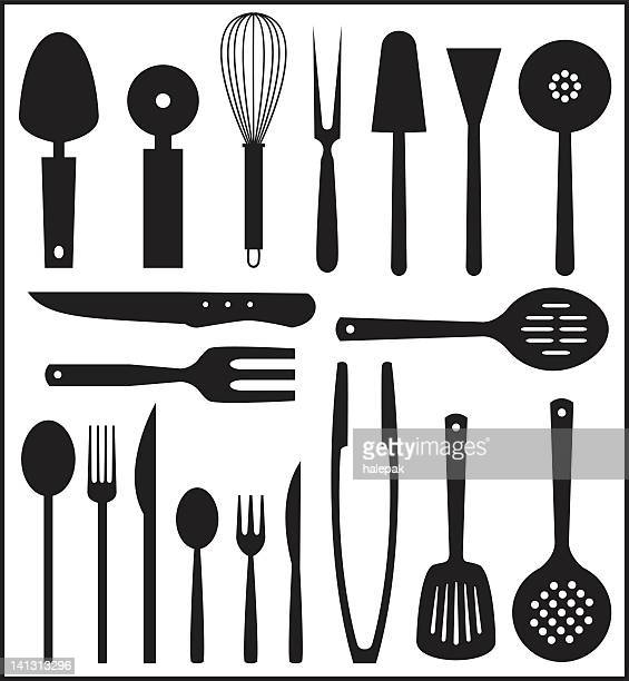 Cartoon Kitchen Tools ~ Cooking utensil stock illustrations and cartoons getty