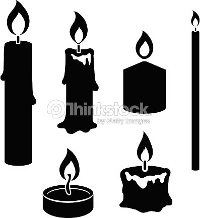 jeu de noir et blanc silhouette de bougies clipart vectoriel thinkstock. Black Bedroom Furniture Sets. Home Design Ideas