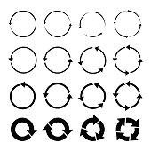 black circle vector arrows and design elements