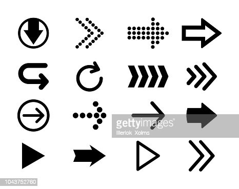 Set of black vector arrows. Arrow icon. Arrow vector icon. Arrow. Arrows vector collection. : Vector Art