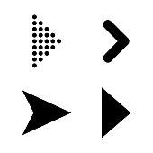 Set of black vector arrows. Arrow icon. Arrow vector icon. Arrow. Arrows vector collection. Esp10