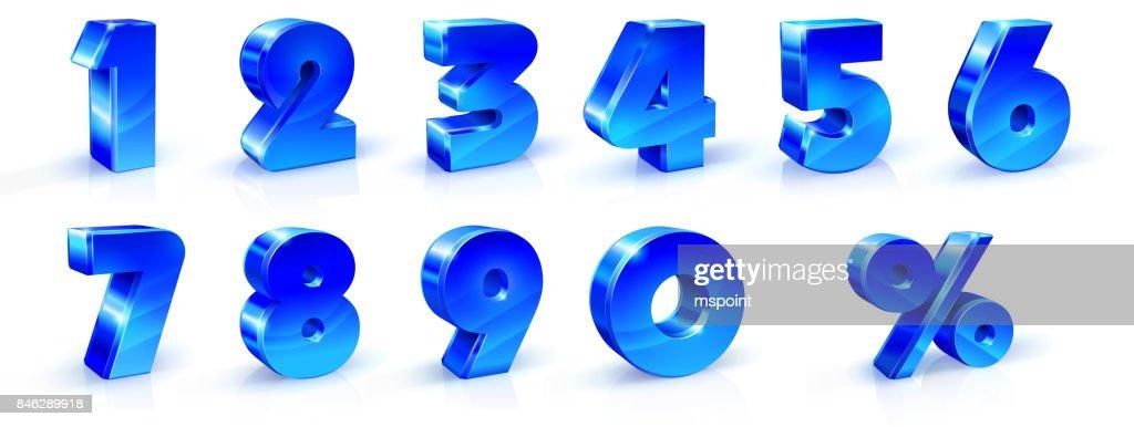 Set Typographic Alphabet Font Template Numbers Stock Vector ...