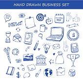 big set et of business hand drawn vector design elements