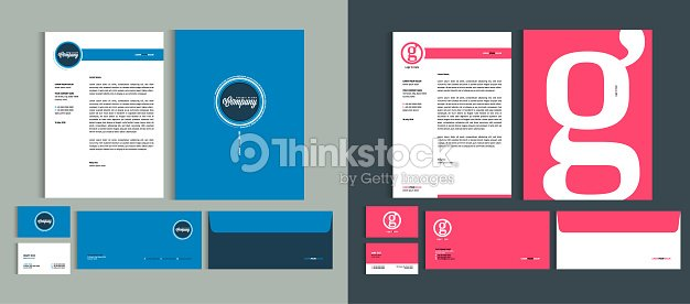 Set of Business identity design templates. Stationery set -  Letterhead A4 template, name card (3,5 x 2), envelope (8.66 x 4.33), presentation folder(9 x 12). Vector illustration. : stock vector