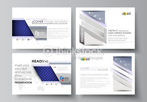 5c4a6613954f8 Set of business templates for presentation slides. Easy editable abstract  vector layouts in flat design. Shiny fabric