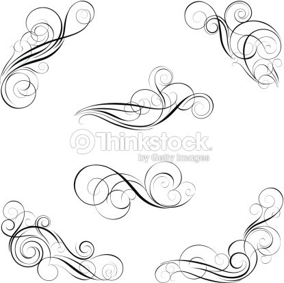 ensemble de calligraphie design clipart vectoriel thinkstock. Black Bedroom Furniture Sets. Home Design Ideas