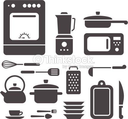 Juego de utensilios de cocina arte vectorial thinkstock for Juego de utensilios de cocina precio