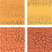 Set of backgrounds with cracks