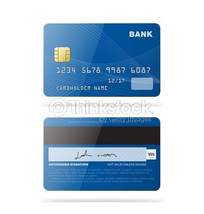 4d4c4e948f72 Set Of Credit Cards Isolated On White Background stock vector ...