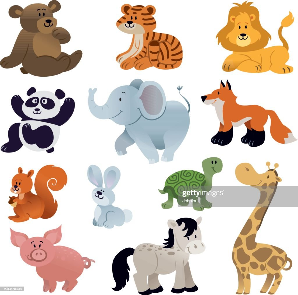 Set of Cute animals : Vector Art