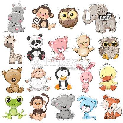 Set of Cute Animals : stock vector