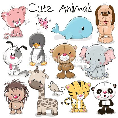 Set of Cute Animals : stock vector