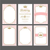 Baby shower, wedding, girl birthday invite card. Can be used for printing in A5 paper.