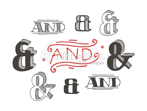 set of decoration ampersands for letters and invitation ベクトル