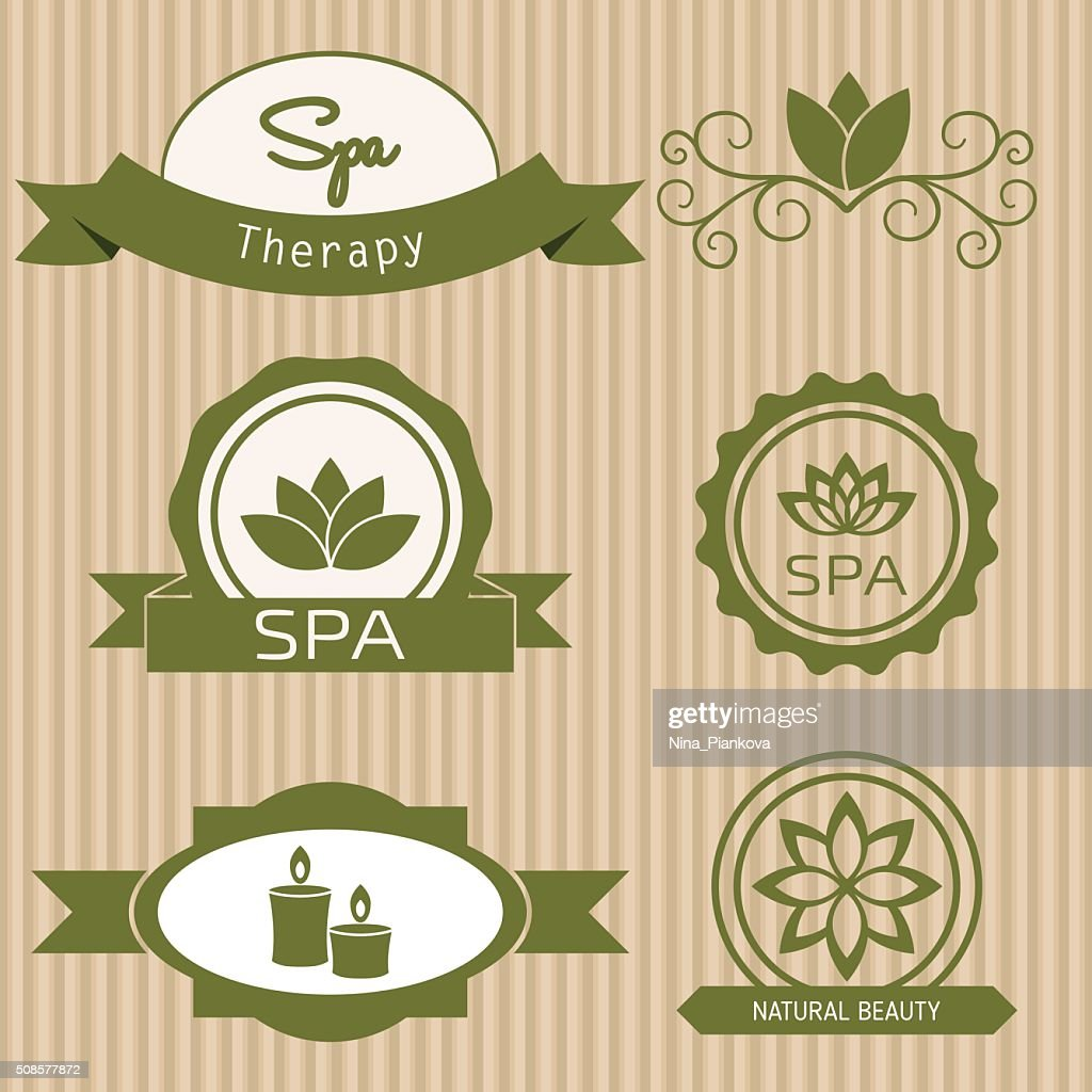 Set of design elements  for spa salon. : Vector Art