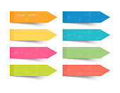 set of different color sheets of vector papers sticky note.