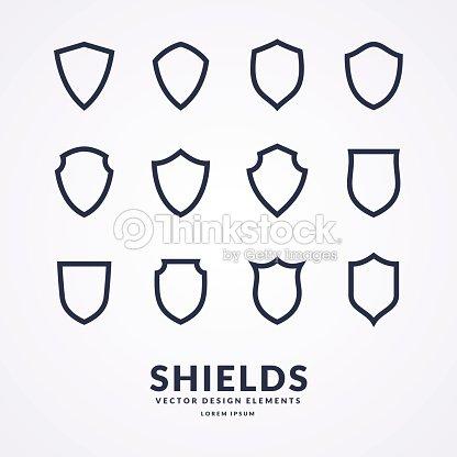 別の盾標識のデザイン用のテンプレートの設定 ベクトルアート thinkstock
