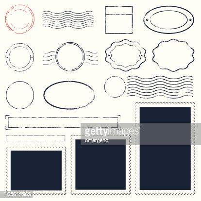 set of different types of frames design vector art