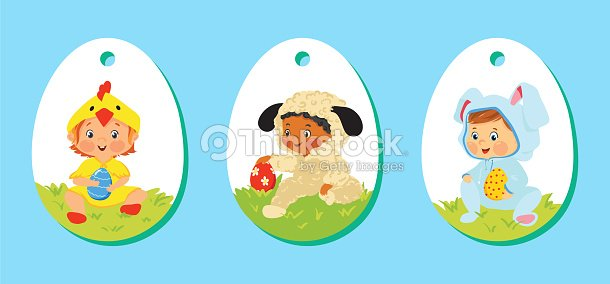 Set of easter price tags gift labels for kids vector art thinkstock set of easter price tags gift labels for kids vector art negle Images