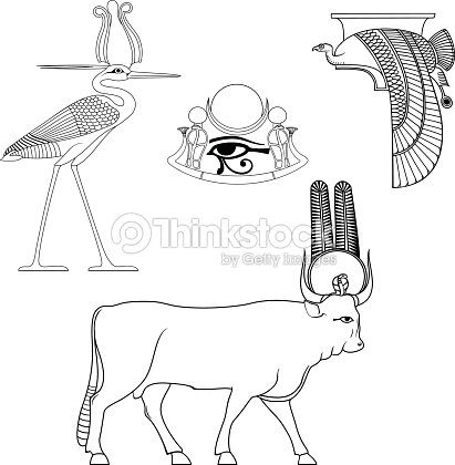 Set Of Egyptian Ancient Symbol Vector Art Thinkstock