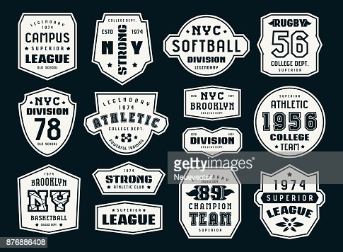 Set of emblems and patches in sport style : stock vector