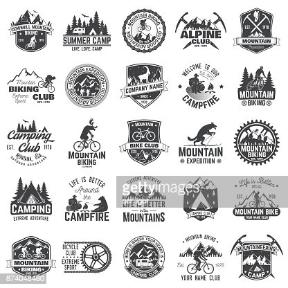 Set of extreme adventure badges. Concept for shirt or icon, print, stamp or tee : Vector Art