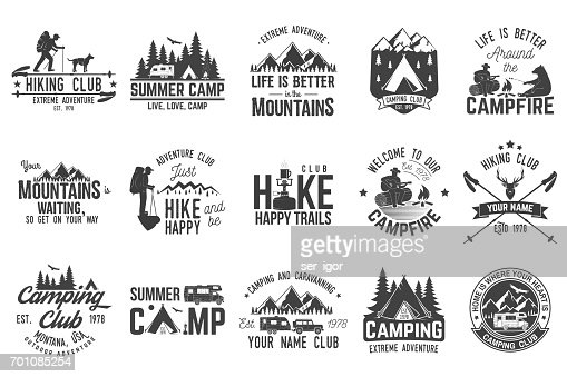 Set of extreme adventure badges. Concept for shirt or logo, print, stamp or tee. : stock vector