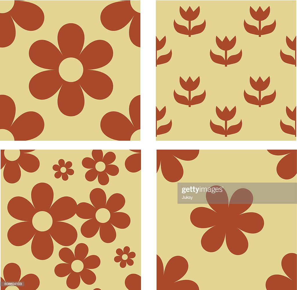 Set of floral seamless patterns : Vector Art