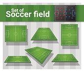 Set of football field , vector , illustration