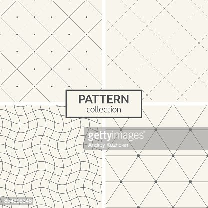 Set of four seamless patterns. : stock vector