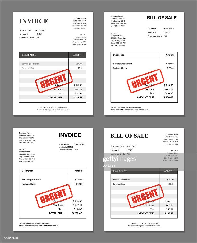 Transaction Number On Receipt Word Set Of Four Urgent Stamped Invoices And Bill Templates Vector Art  Wave Invoicing with Thank You For Confirming Receipt Word Set Of Four Urgent Stamped Invoices And Bill Templates  Vector Art Cash Invoice Sample
