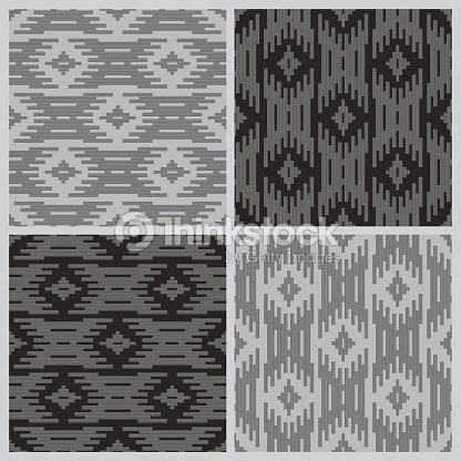 Black And White Tribal Elements On A Gray Background Batik Wallpaper Wrapping Page Fill Textile Print