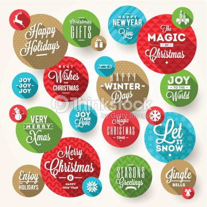 Set of frames with christmas greeting phrases and flat icons vector set of frames with christmas greeting phrases and flat icons vector art m4hsunfo