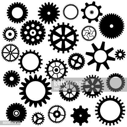 Set of gear icon : stock vector