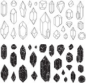 Isolated on white background. Vector illustration EPS 10. Grunge shapes.