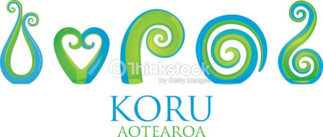 baa053430d119 Set Of Glass Maori Koru Curl Ornaments stock vector - Thinkstock