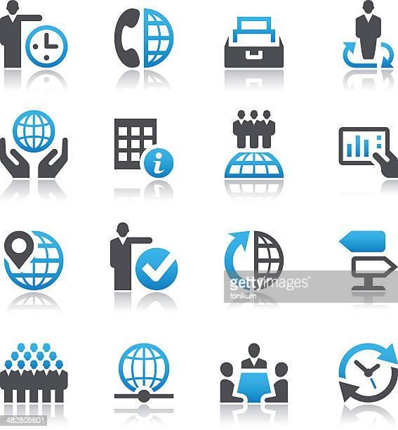 Satz von global business icons