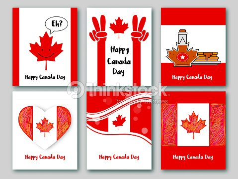 Set of greeting cards in national colors of the canada vector card set of greeting cards in national colors of the canada vector card canada day m4hsunfo