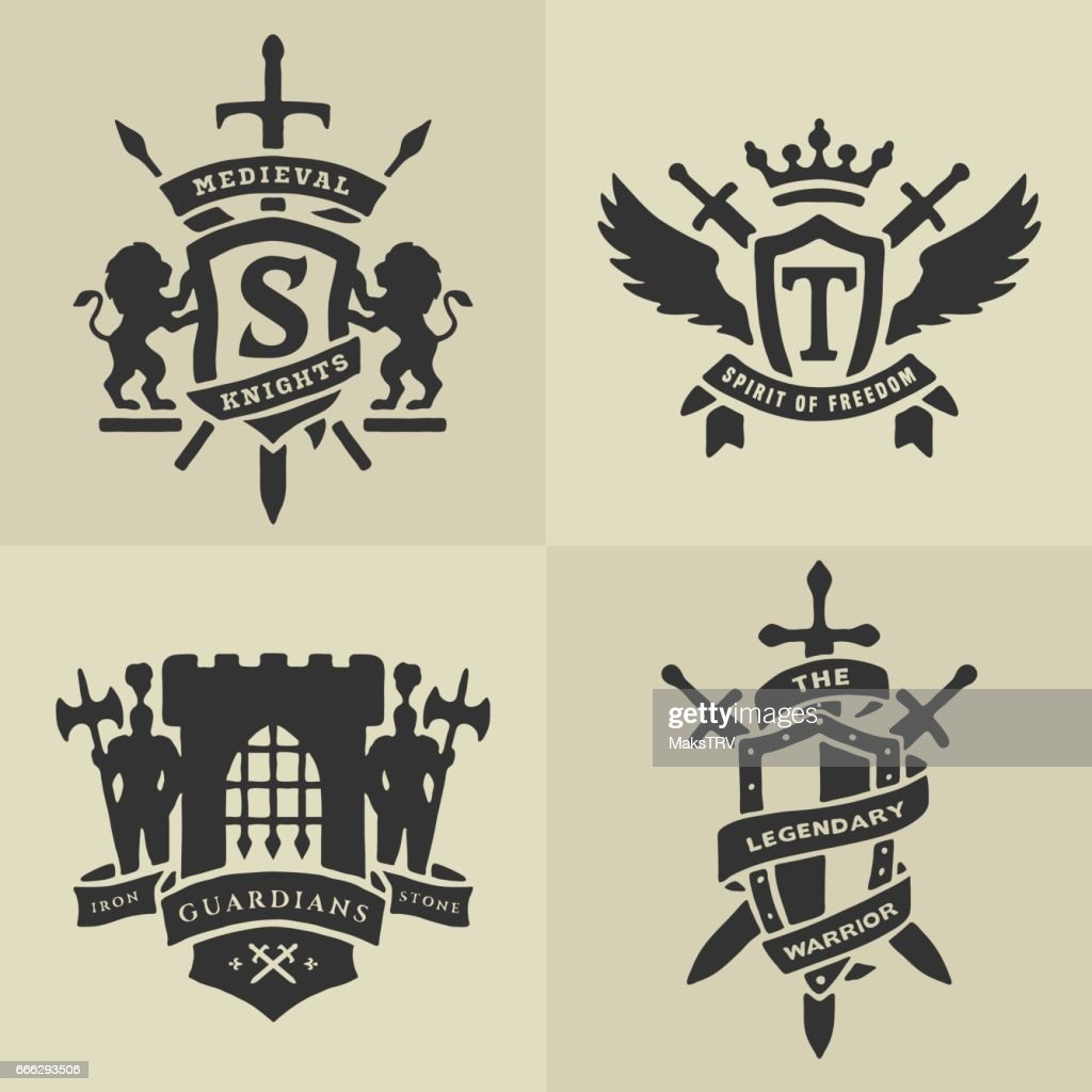 List of synonyms and antonyms of the word medieval emblems medieval royal coat of arms and heraldic emblems vector image biocorpaavc Gallery