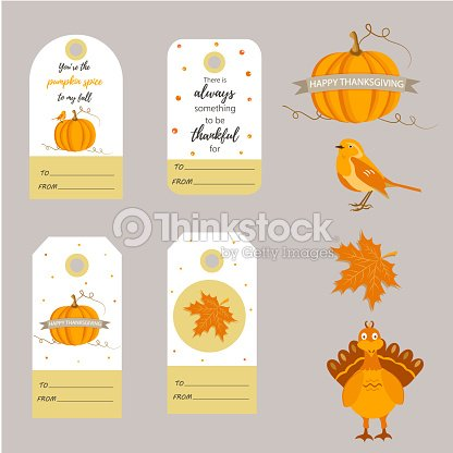 Set of holiday Thanksgiving backgrounds, badges,tags with different elements