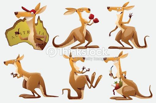 Set of Kangaroos : stock vector