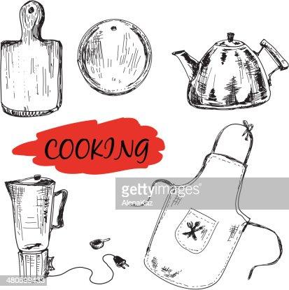 Set of kitchen utensils : Vector Art