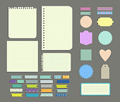 Set of labels, Patterned Wash Tape Strips, decor and design elements