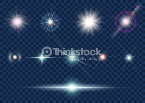 Set of light effect and star : stock vector