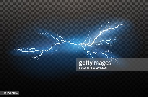 A set of lightning Magic and bright light effects. Vector illustration. Discharge electric current. Charge current. Natural phenomena. Energy effect illustration. Bright light flare and sparks : stock vector