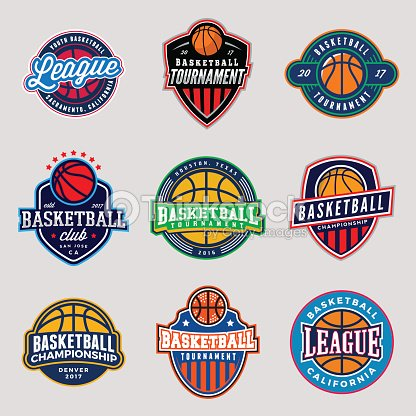 Set Of Logos For Basketball Game Events Vector Art Thinkstock